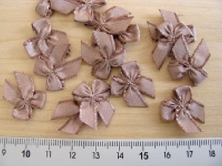 4 Schleifchen in nugat-braun