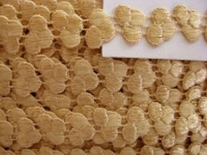 3m Zierborte - Kunstseide - in weizen-gold Fb0780