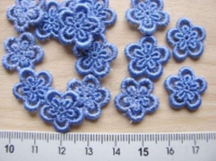 4 Blümchen in puder-blau Fb1464