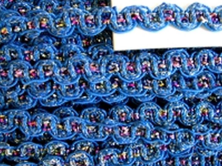 5m Zier-Borte mit Lurexfäden in blitz-blau