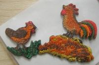 Bügelbild -Hühnerfamilie-