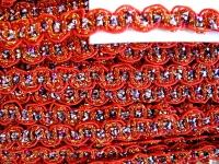 5m Zier-Borte mit Lurexfäden in rot