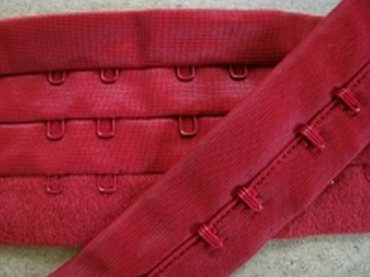 1m Korsagenverschluss in kirsch-rot Fb0504