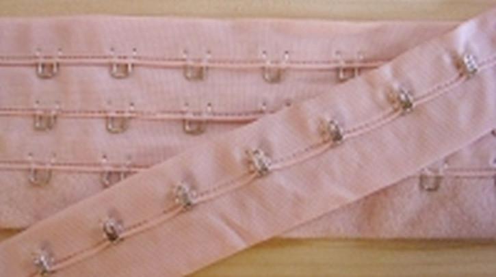 1m Korsagenverschluss in puder-rosa Fb1063
