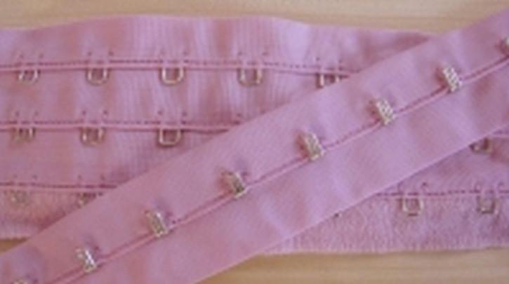 1m Korsagenverschuss in lavendel-rosa Fb0052
