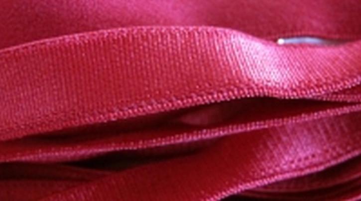 5m Satin-Träger-Gummi in nelken-rot