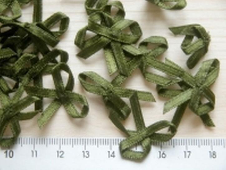 4 Schleifchen in moos-grün