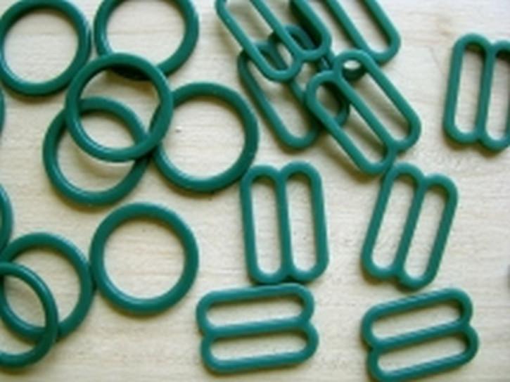 4 Schieber und 4 Ringe in trachten-grün