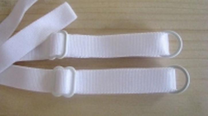 1 Paar fertige Träger in rein-weiß