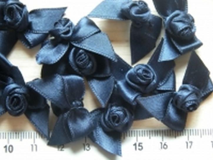 4 Schleife mit Röschen in abend-blau Fb0810