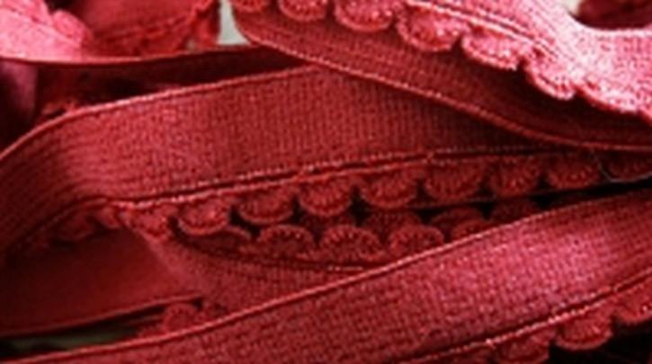 6m Unterbrustgummi in wein-rot
