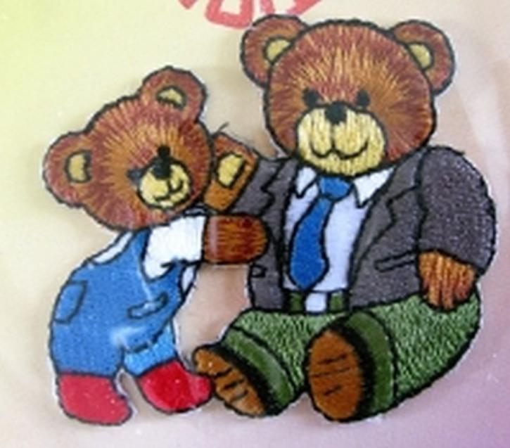 Bügelbild -Bär mit Papabär-