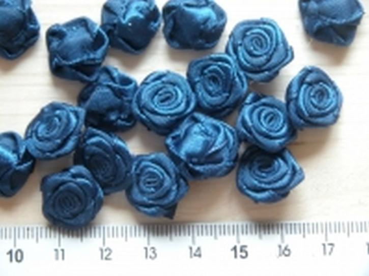 4 Röschen in saphir-blau