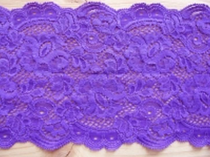 1 elastische Spitze in kräftigem violett