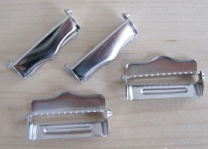 4 Feststeller für Träger/Strapse silber