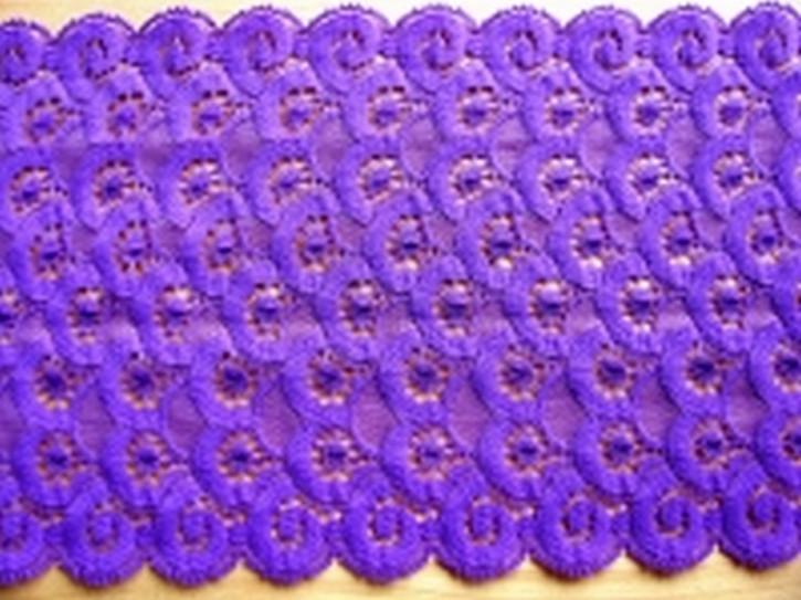 elastische Edel-Spitze in purpur-violett Fb0040