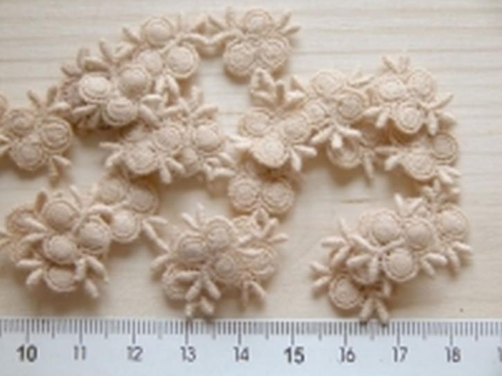 4 Blümchen in beige /puder Fb0260