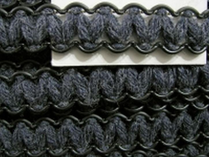 5m Zierborte in schiefergrau Fb1452 und schwarz