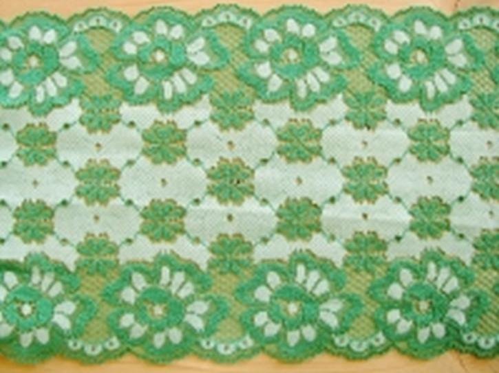 elastische Spitze in turmalin-grün Fb0238