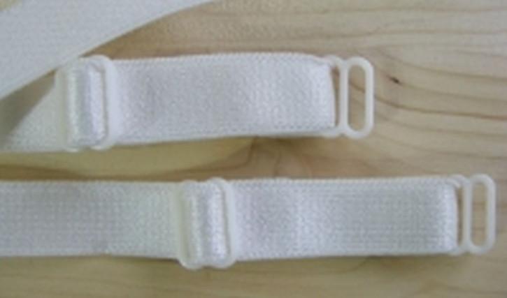 1 Paar fertige Träger in perl-weiß/ecru Fb2001