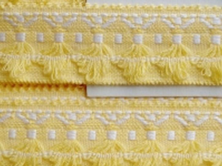 Web-Borte im freundlichen gelb und weiß