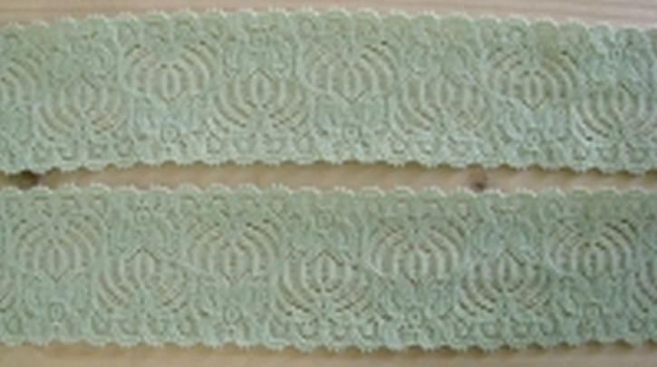 2m elastische Spitze in hellem lind-grün