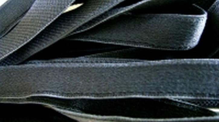 5m Träger-Gummi in rauch-grau, satiniert