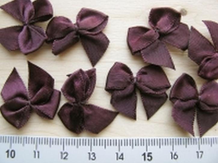 4 Schleifchen in aubergine Fb0111