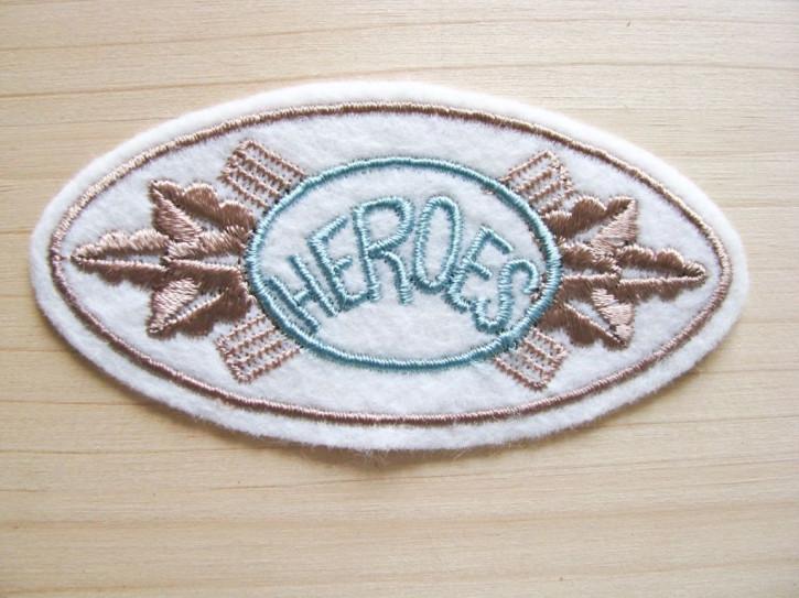 "1Stk. Aufnäher ""Heroes"""