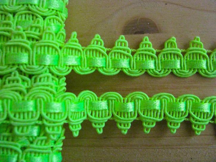 2m ausgefallene Posamenten-Borte in neon-gelb-grün Fb1309