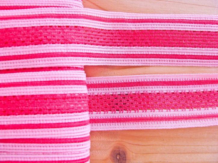 """5m """"Netz""""-Borte in pink und rosa Fb1421..."""