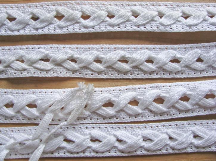 4m Zier-Schnürung-Borte in rein-weiß Fb2000