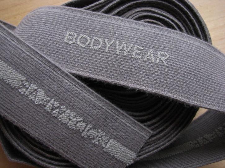 """4m Bundgummi """"Bodywear"""" in d. silber-grau Fb0343 - 3cm"""