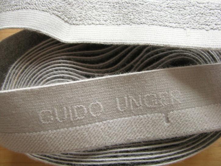 """4m Bundgummi """"Guido Unger"""" in hellem silber-grau Fb3501"""