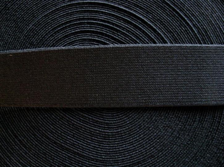 4m Bundgummi 35mm breit, in schwarz Fb4000