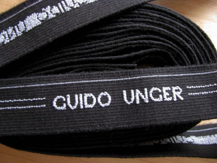 """4m Bundgummi """"Guido Unger"""" in schwarz/weiß Fb4000 - 2,5cm..."""