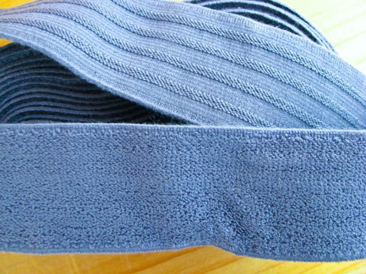 4m Bundgummi in jeans-blau Fb1467