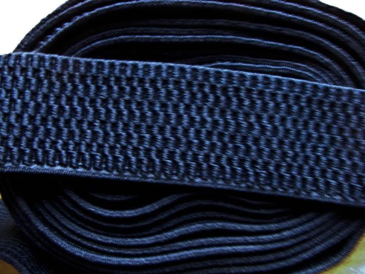 4m Bundgummi in d.marine-blau  - 3,8cm breit Fb0825