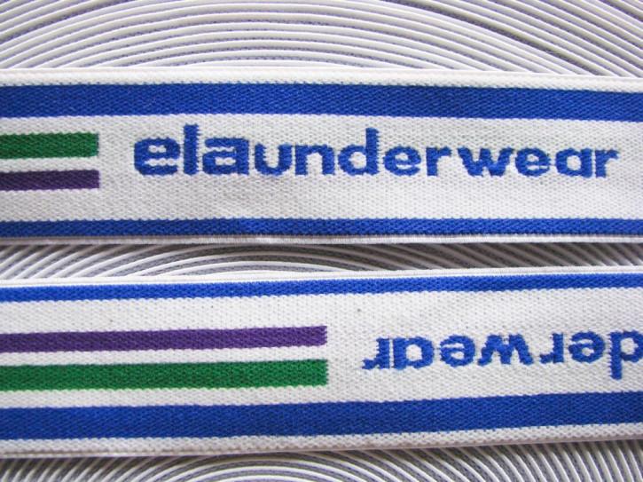 """4m Bundgummi """"elaunderwear"""" in weiß..."""