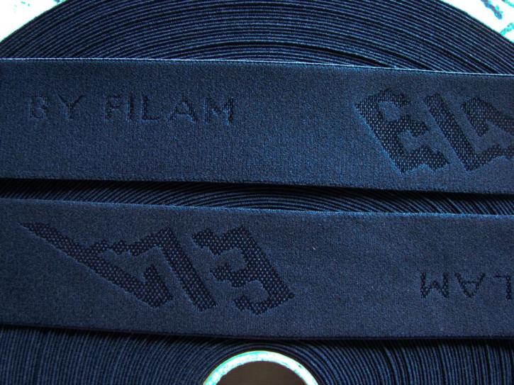 """4m Bundgummi """"Ela"""" by Filam in dunkel-blau Fb0810"""