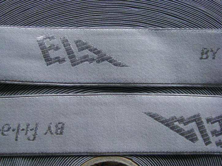 "4m Bundgummi ""Ela"" by Filam in platino-grau Fb3506"