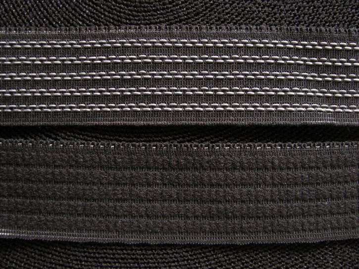 4m Bundgummi  in schwarz mit Silikonfäden Fb4000