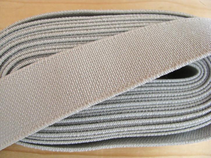 4m Bundgummi in stein-grau Fb0412 - 2,5cm