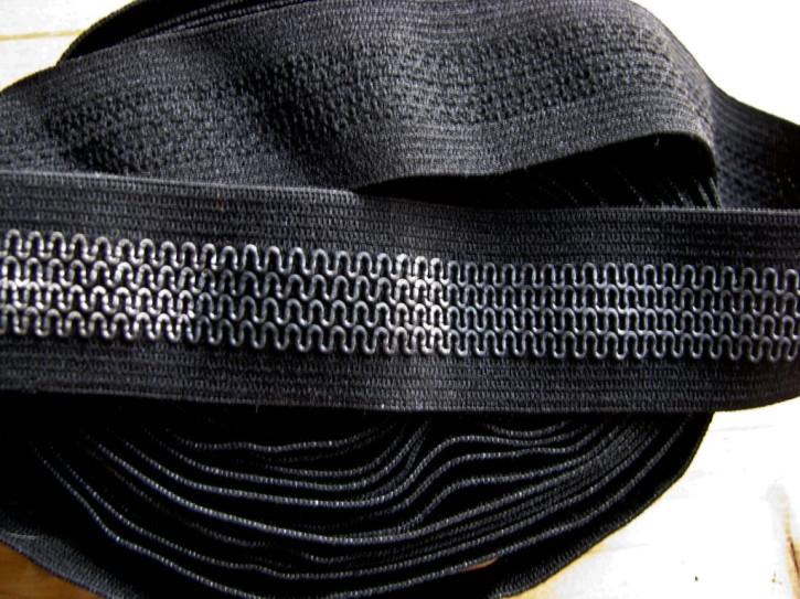 4m Bundgummi  in schwarz mit Gummirung Fb4000 - 2,5cm