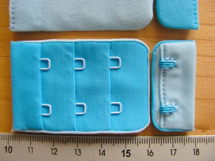 BH-Verschluss/zweifärbig - pool-türkis und wasserblau Fb0409...
