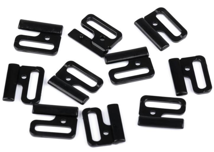 3 Paar Verschlüsse in schwarz Fb4000 - 18mm