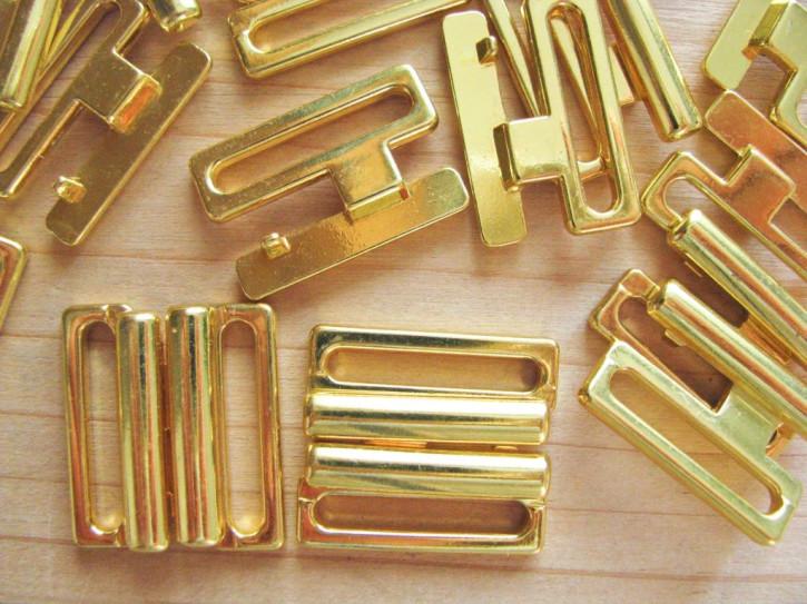 2 Paar Verschlüsse in gold/Metall - 18mm