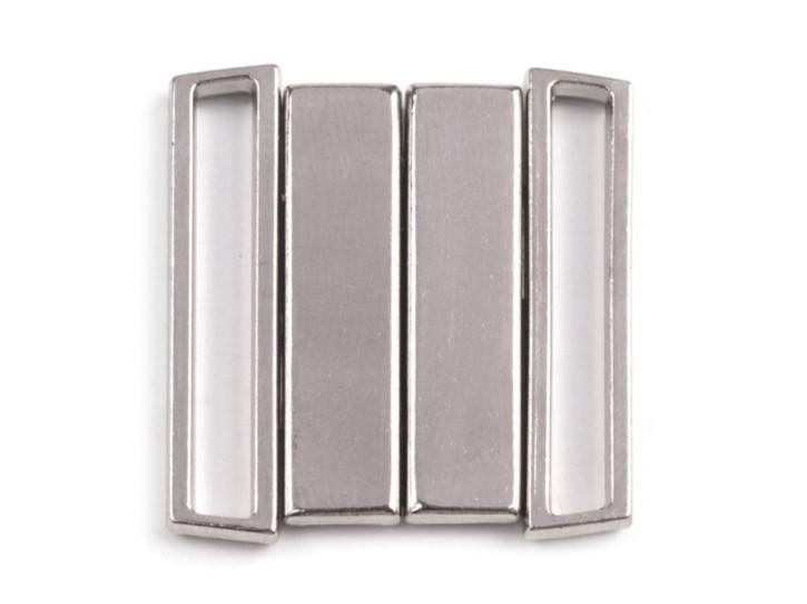 2 Paar Verschlüsse in silber/Metall - 25mm