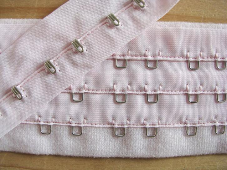 1m Korsagenverschluss in pastell-rosa Fb0082