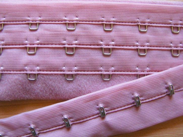 1m Korsagenverschuss in alt-rosa/d.cassis Fb0638